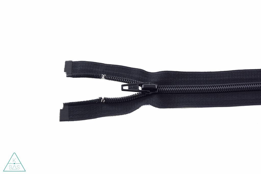 Deelbare Spiraalrits 20cm Zwart