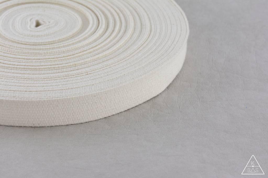 Katoenen tassenband Ivoor 20mm