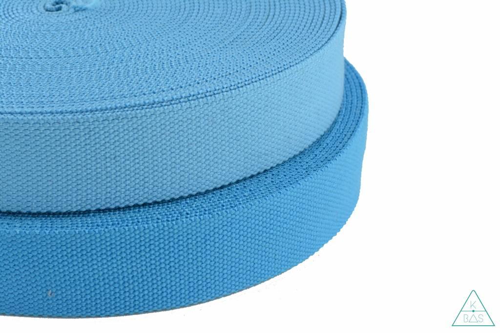 Katoenen tassenband Aqua 38mm