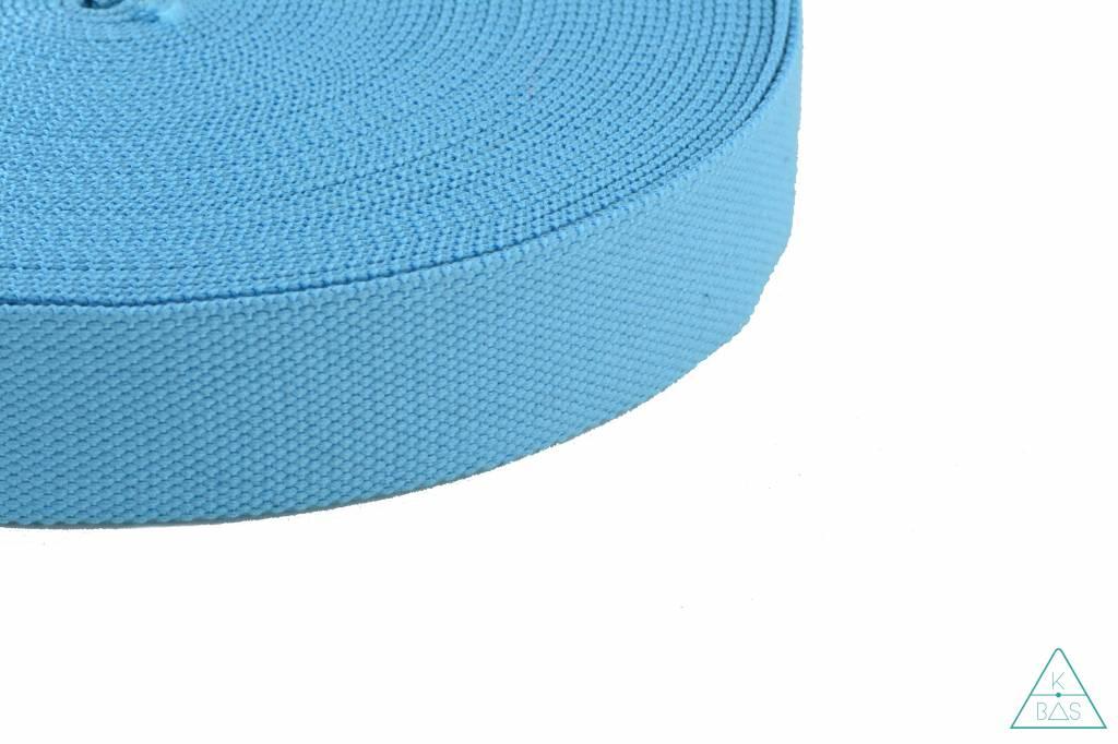 Katoenen tassenband Lichtblauw 38mm