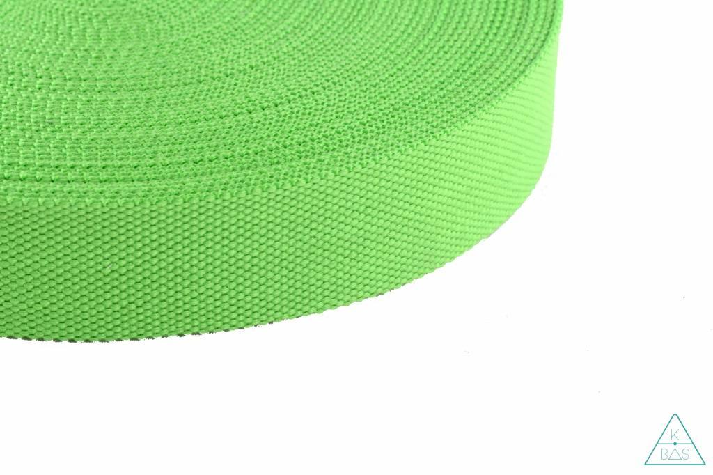 Katoenen tassenband Lime 38mm