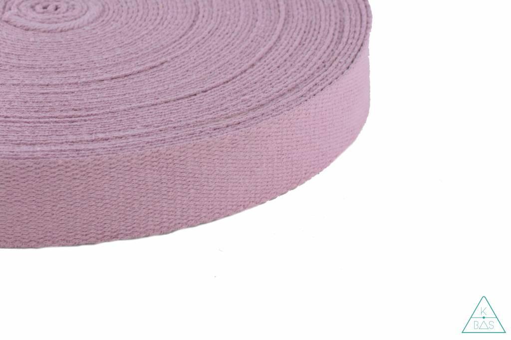Katoenen tassenband Oudroze 32mm