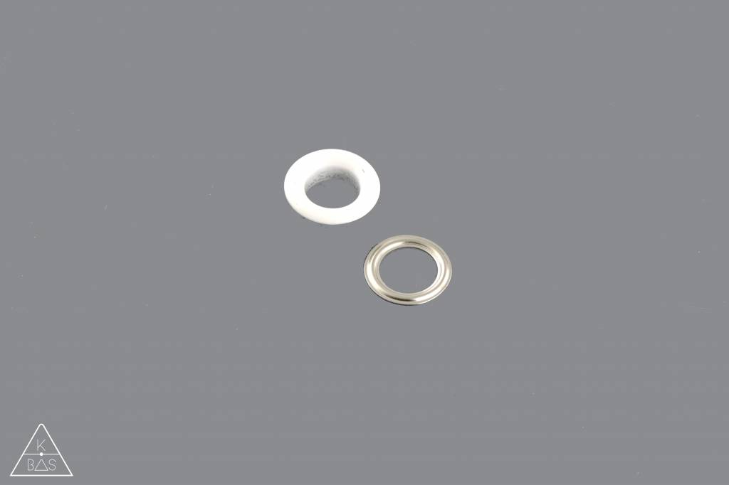 Zeilring Wit glanzend 8mm