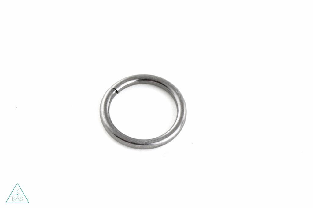 O-ring Zwart Nikkel Goud 25mm