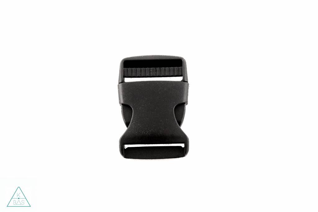Zwarte klikgesp, 50mm