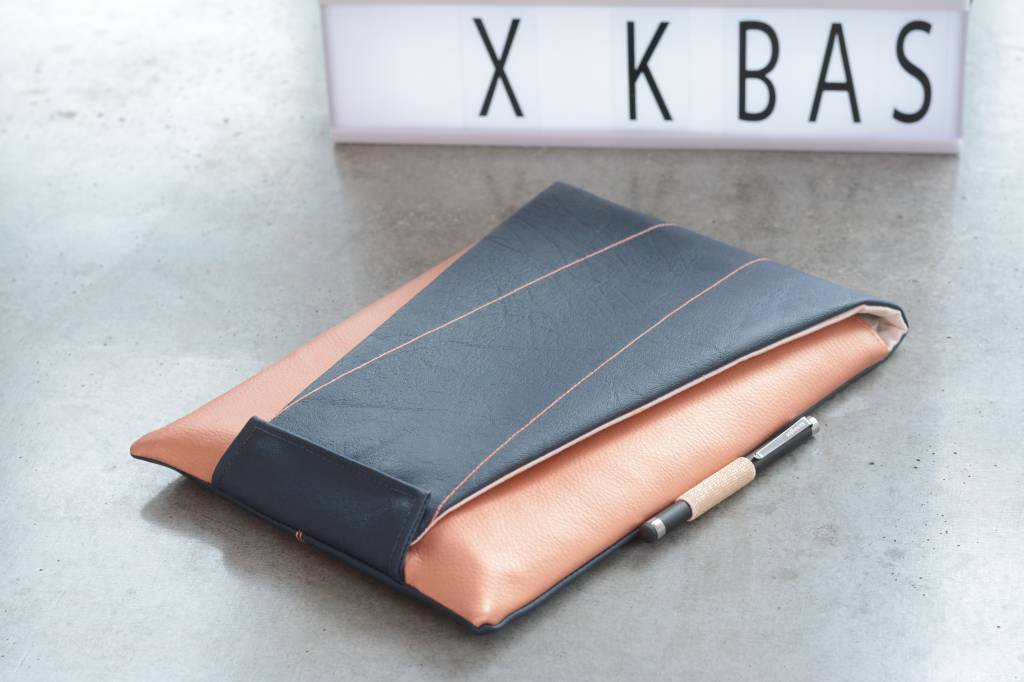 k-bas Kunstleer Metallic Koper