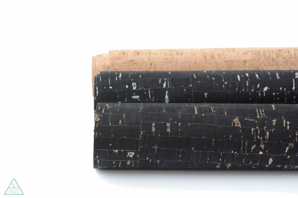 k-bas Kurkleer Bamboo Zwart met Goud