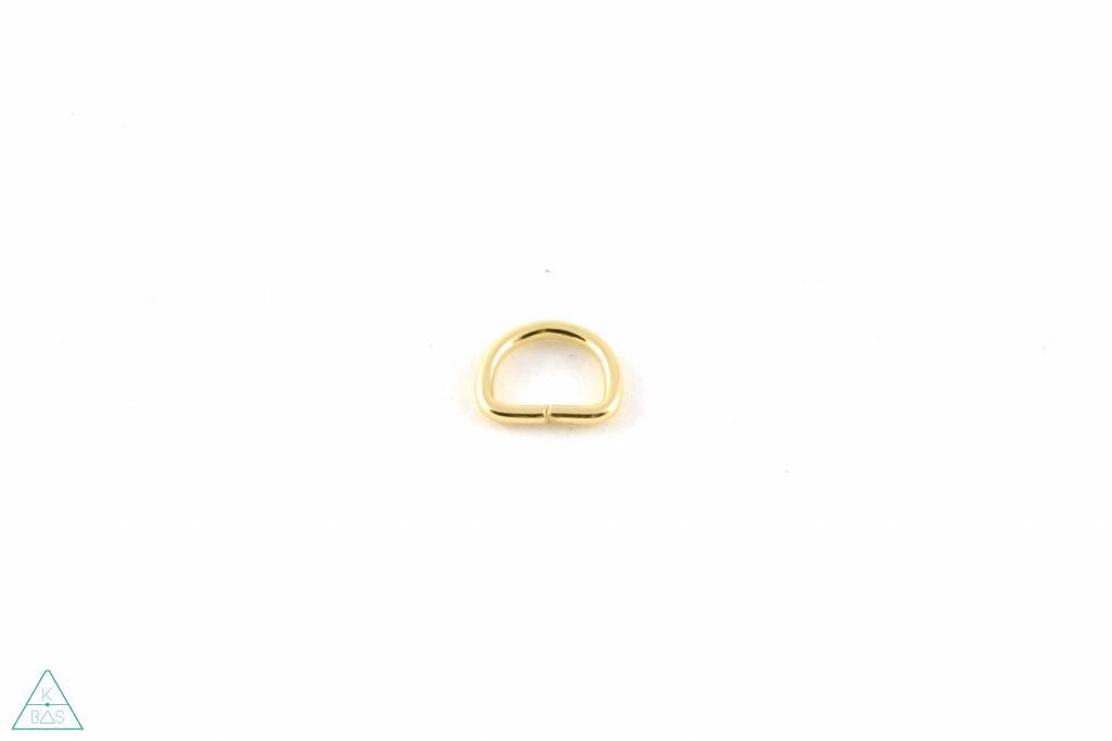 D-ring Goud 12mm - Fijn