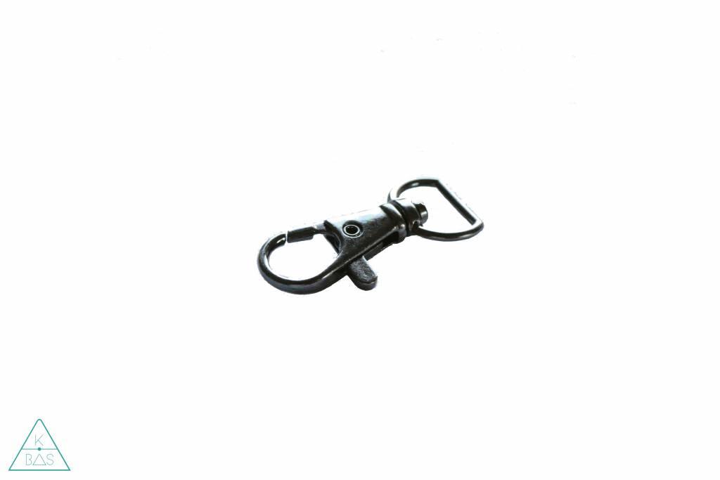 Musketon, Zwart Nikkel, 12mm