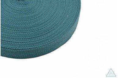 Tassenband Donker turquoise 25mm
