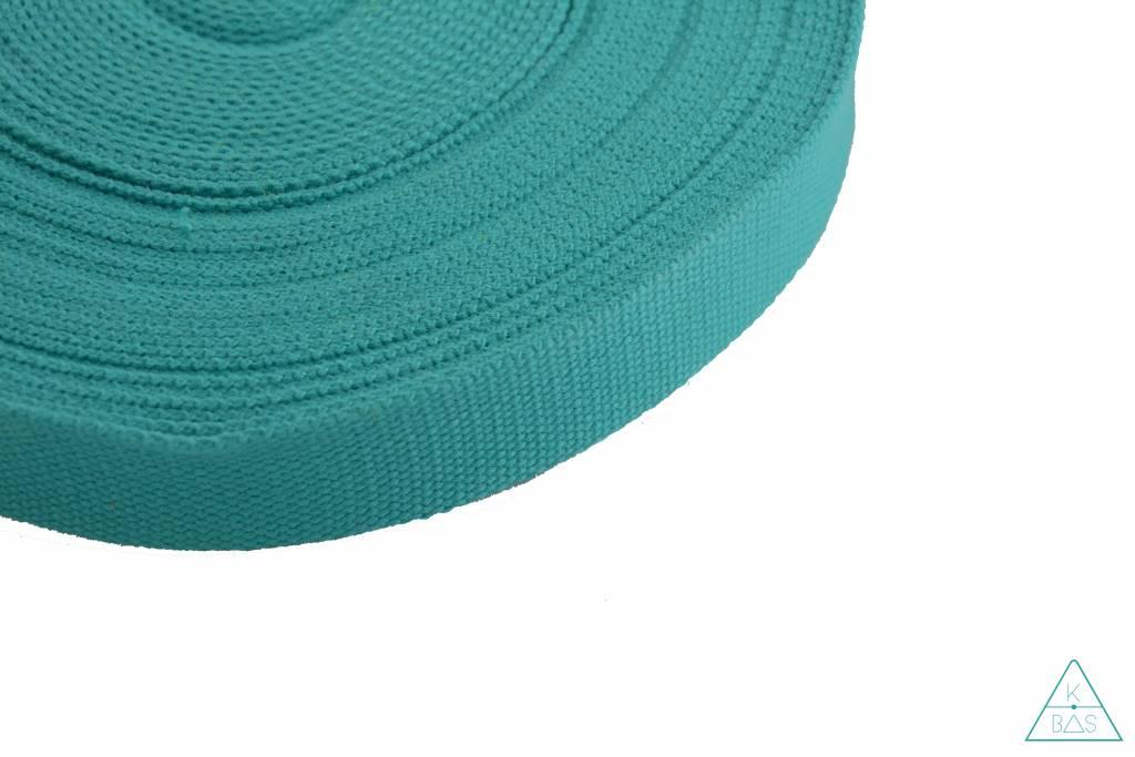 Katoenen tassenband Teal 25mm