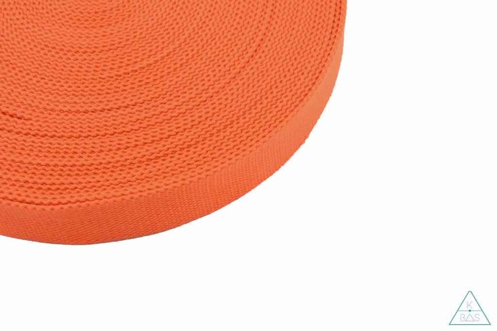 Katoenen tassenband Oranje 25mm