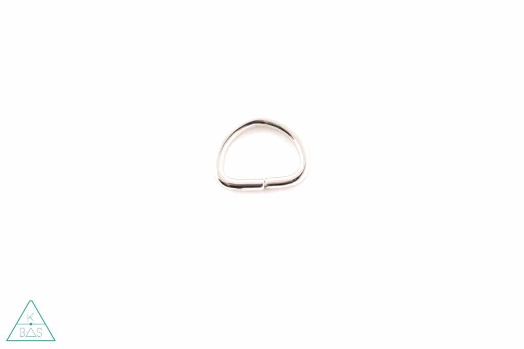 D-ring Nikkel 15mm