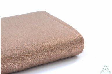 Handwaxed metallic linnen,  Licht koper