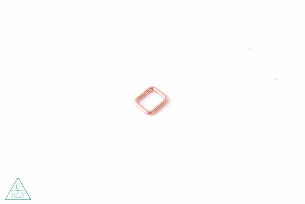 k-bas Passant Rechthoekig  Rosé Goud 15mm