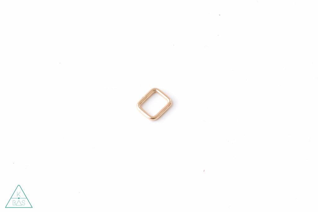 k-bas Passant Rechthoekig  Lichtgoud 15mm