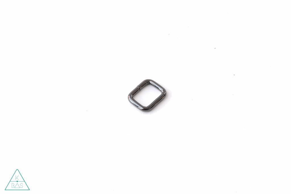 k-bas Passant Rechthoekig  Zwart Nikkel 15mm