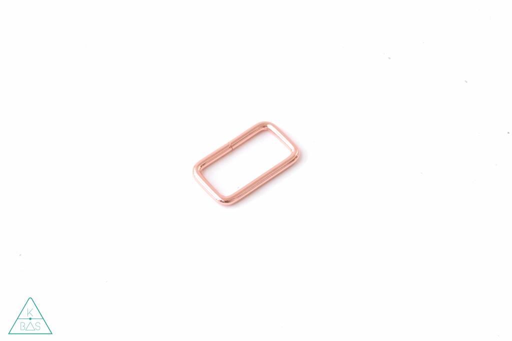 k-bas Passant Rechthoekig  Rosé Goud 38mm