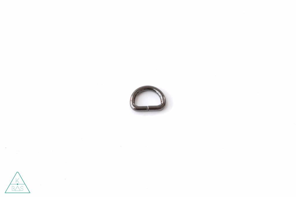 k-bas D-ring Zwart Nikkel 20mm
