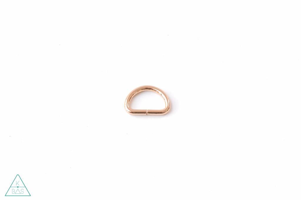 k-bas D-ring Lichtgoud 25mm