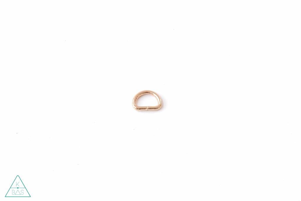 k-bas D-ring Lichtgoud 15mm