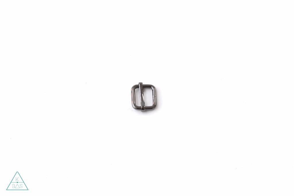k-bas Schuifgesp Zwart Nikkel 15mm