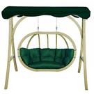 Overdekte tweepersoons hangstoel