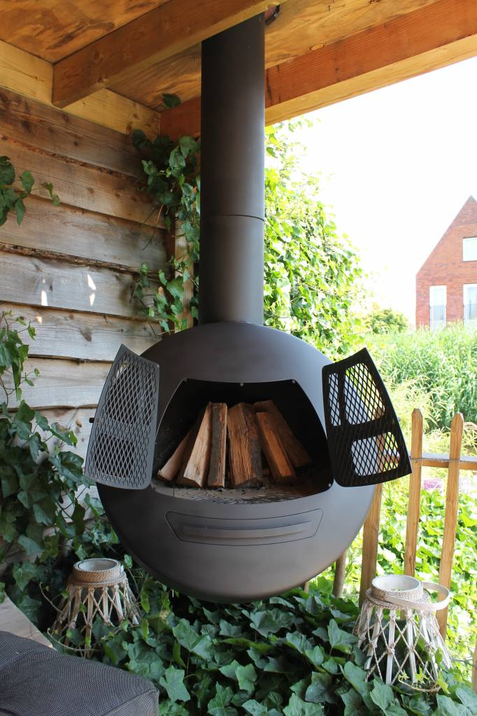 Garden Fireplaces And Wood Storage Elements Living
