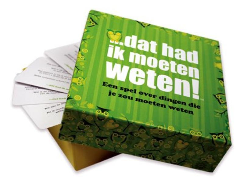Koelkastpoëzie Party Game 'J'aurais dû savoir ça' (version néerlandaise)