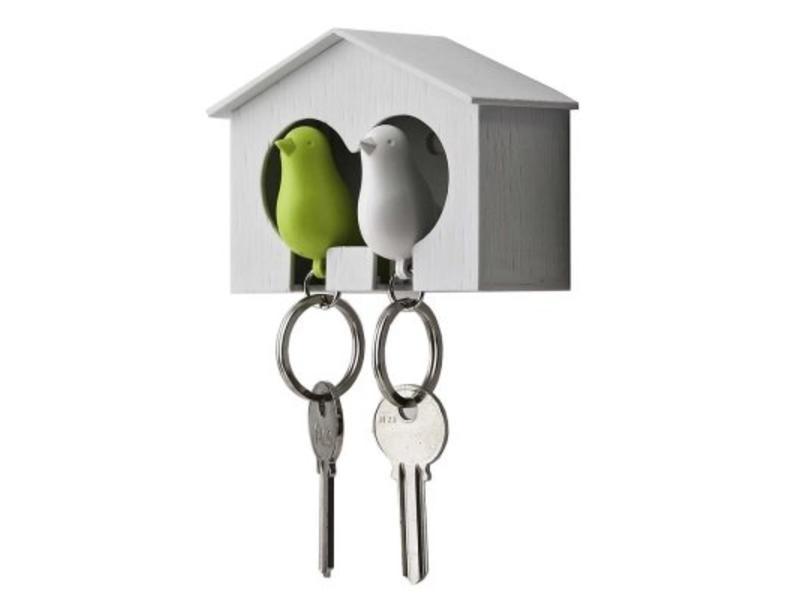 Qualy Sleutelhouder met 2 sleutelhangers 'Sparrow'