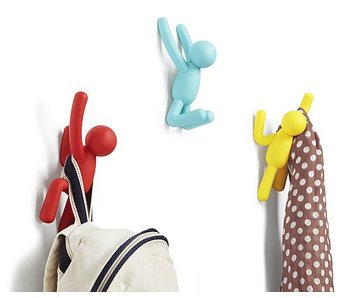 Wall Coat Rack 'Buddy Hooks' (multicolor)
