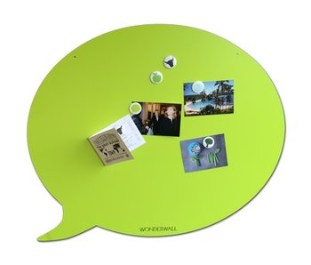 Magneetbord 'Tekstballon' (XL, groen)