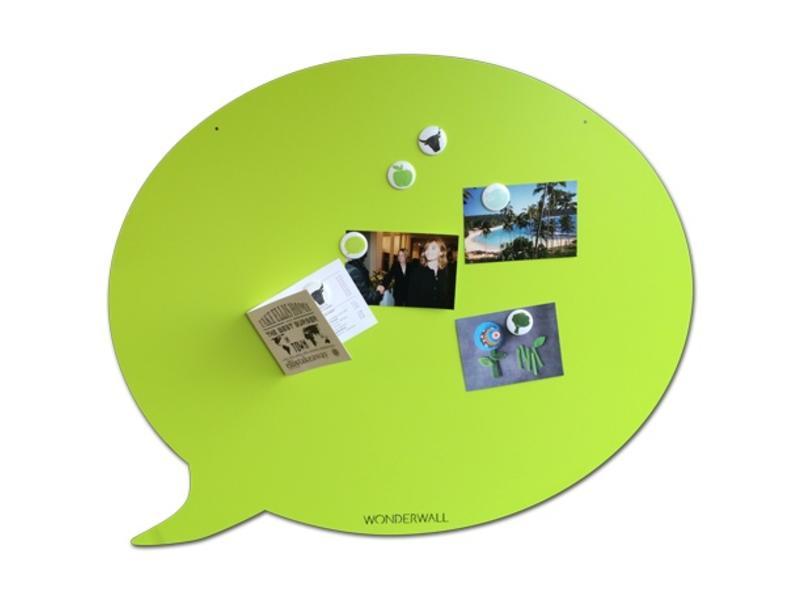 Wonderwall Magnetic Board 'Tekstballoon' (XL, green)