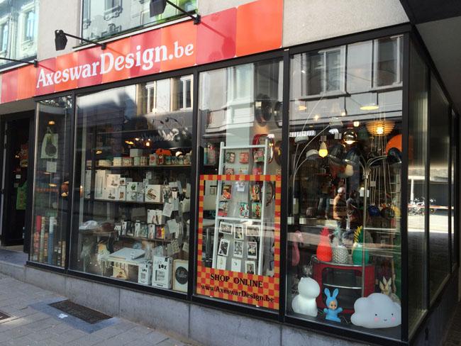 Binnenkijken bij axeswar design trendshop in gent for Interieur winkel gent