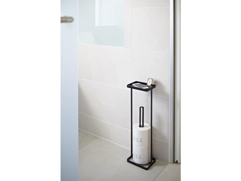 Yamazaki  Toilet Paper Holder 'Open Tower' (black)
