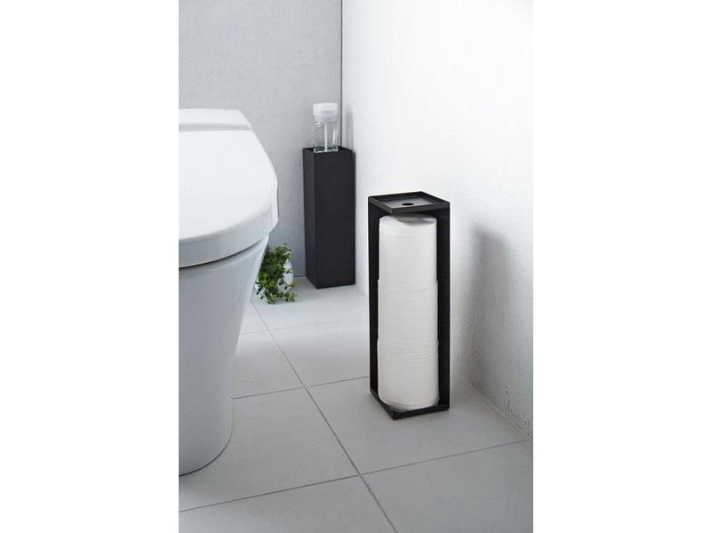 Toilet paper holder 39 closed tower 39 black yamazaki for Design your own toilet paper