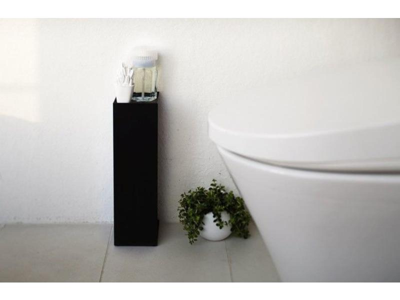 Yamazaki  Toilet Paper Holder 'Closed Tower' (black)