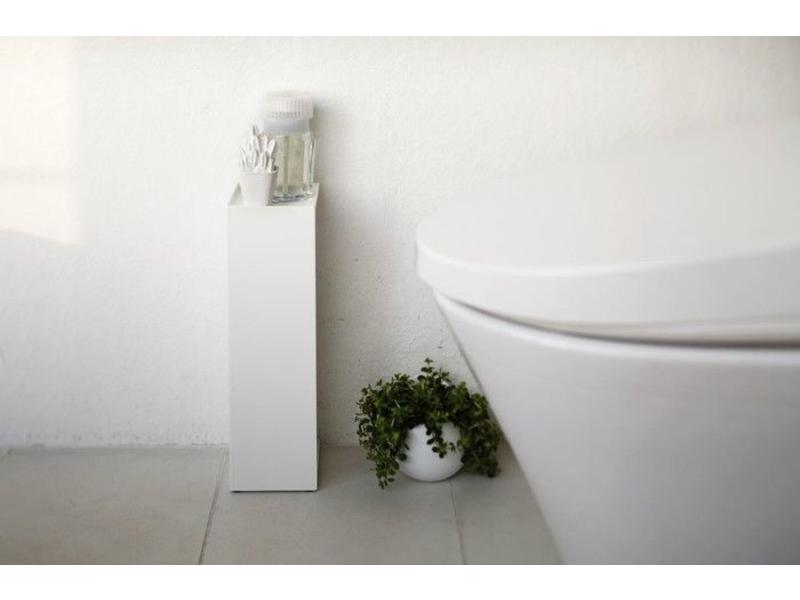 Toilet paper holder 39 closed tower 39 white yamazaki for Design your own toilet paper