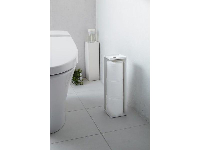 Toilet Paper Holder : Toilet paper holder closed tower white yamazaki axeswar design