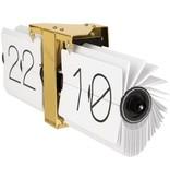 Karlsson Flip Clock 'No Case' (wit/brons)