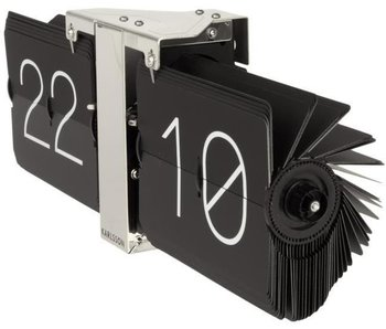 Flip Clock 'No Case' (noir/chromé)