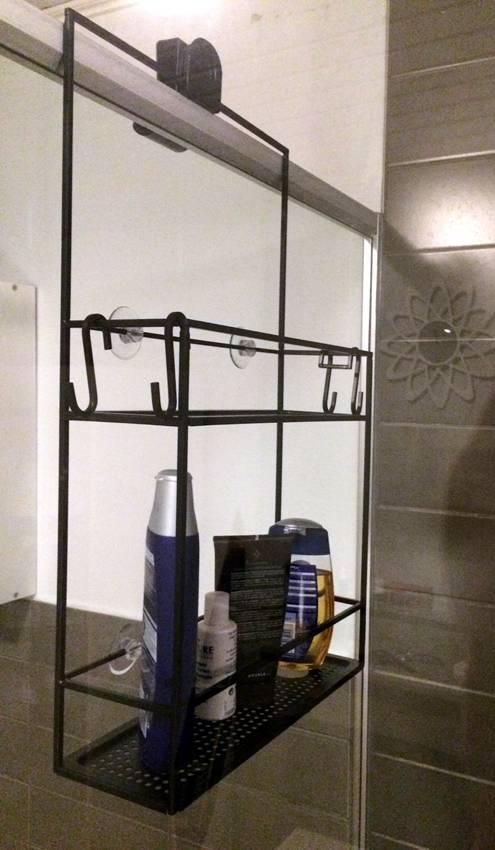 Doucherek hangend zonder boren miomare badkamerrek folder aanbieding bij lidl details douche - Decoratie douche badkamer ...