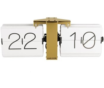 Flip Clock 'No Case' (blanc/laiton)