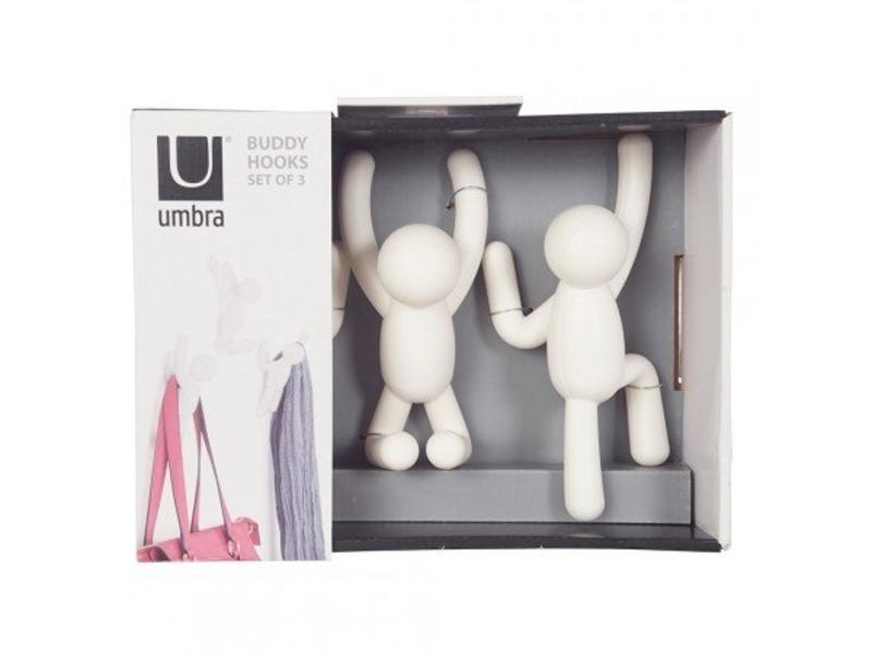 Umbra Wall Coat Rack 'Buddy Hooks' (white)