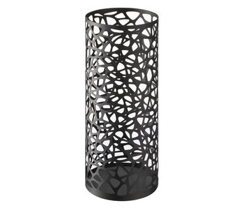 Umbrella Stand 'Nest' (round, black)