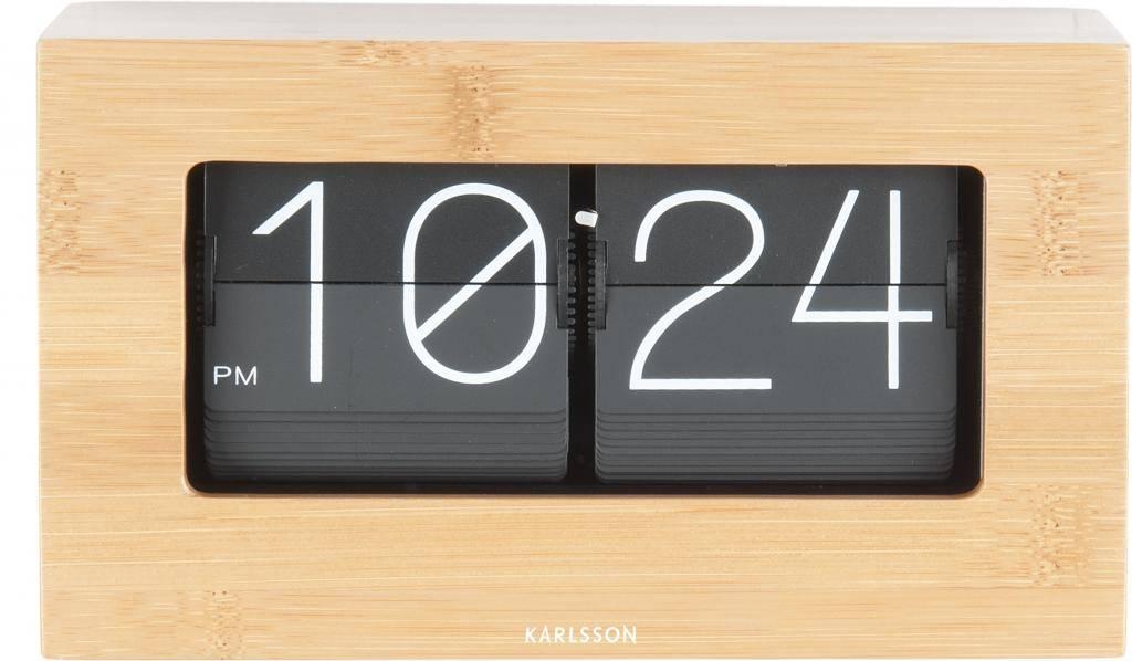 Karlsson Flip Klok : Design klok flip klok boxed bamboo karlsson axeswar design