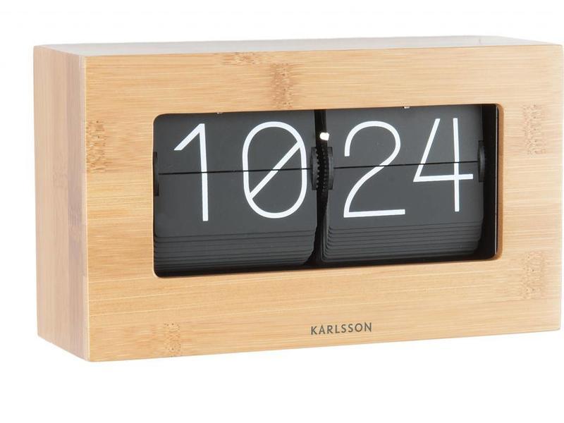 Karlsson Flip Klok 'Boxed' (bamboo)