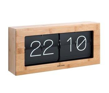 Horloge Flip Clock 'Boxed XL' (bamboo)