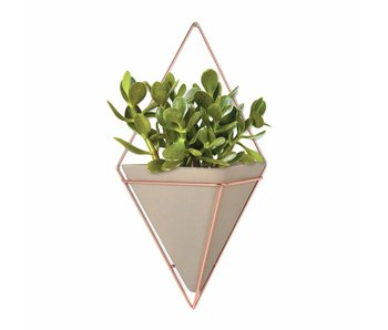 Wall Vessel 'Trigg' XL (copper/beton)