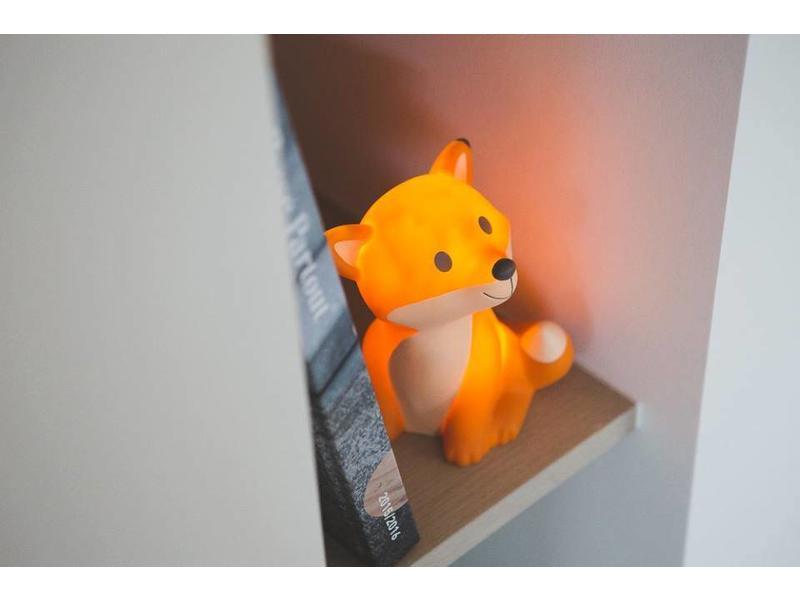 LED Nacht Lampje  'Cesar Fox' (oranje)